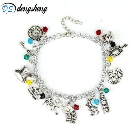 Alice in Wonderland Bunny Rabbit Charm Bracelet