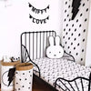Image of Black & White Bunny Cushion Pillow
