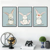 Image of Cute Cartoon Rabbit Poster Canvas Art