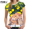 Image of Women's 3D Bunny Rabbit Print T-Shirt