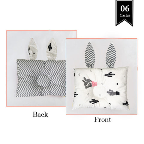 Soft and Cute Bunny Head Shaping Pillow