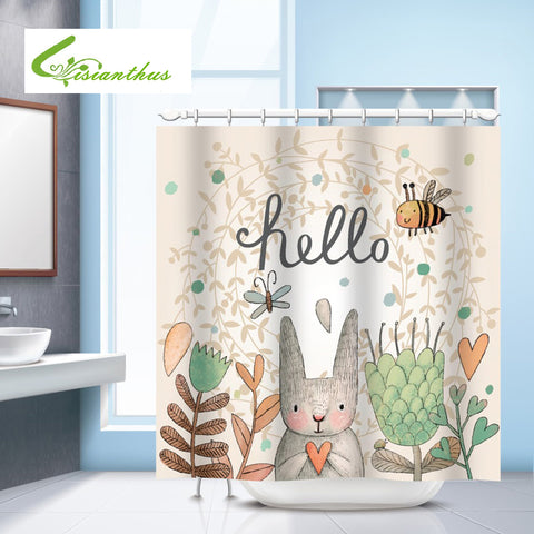 Easter-Themed Rabbit Shower Curtain – 7 Designs