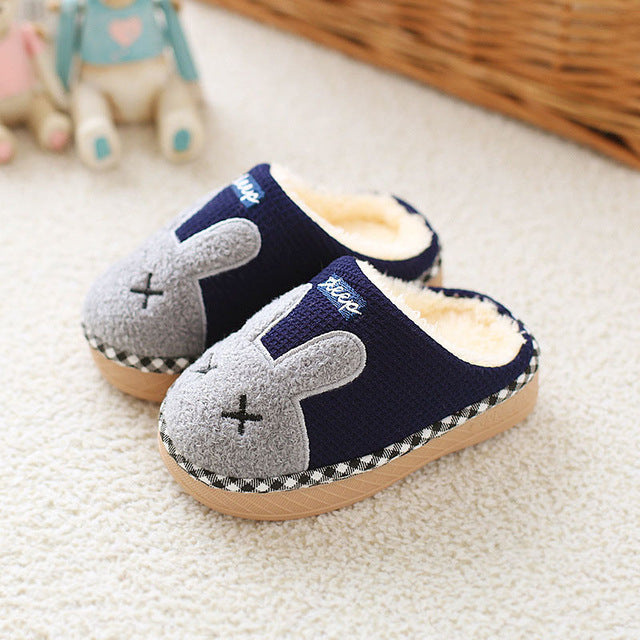 Unisex Home Bunny Slippers for Kids – Five Color Variants
