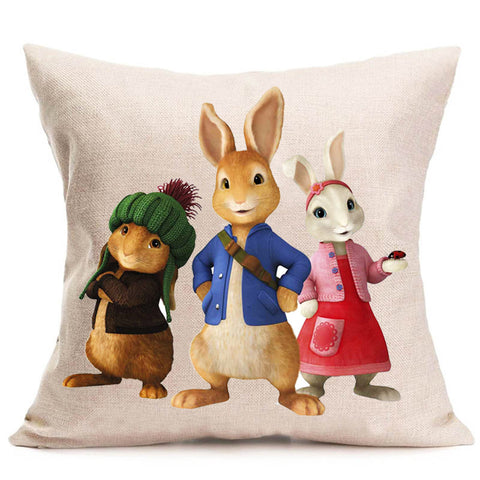 Adorable Peter Rabbit Pillow Cover