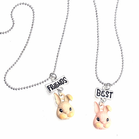 Best Friend Couple Peter Rabbit Necklaces – 2-Piece Set