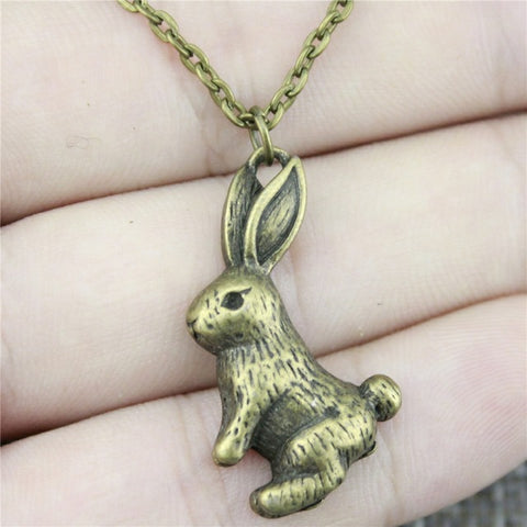 Handmade Rabbit Pendant Necklace