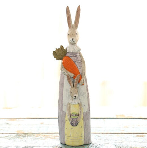 Rustic Bunny Figurine Ornament – 2 Designs