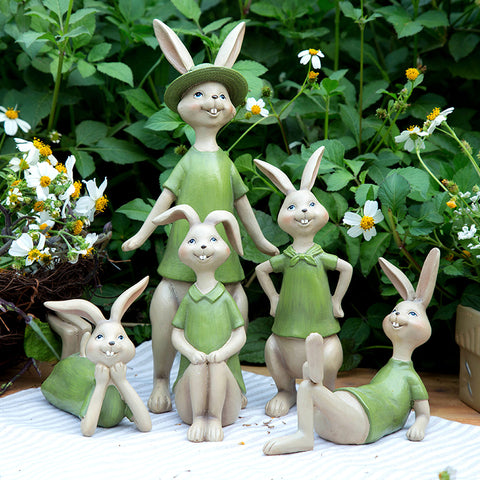 Lovely Rabbit Figurine Ornament – 5 Designs