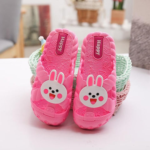 Cute Bunny Slippers for Kids – Three Color Variants