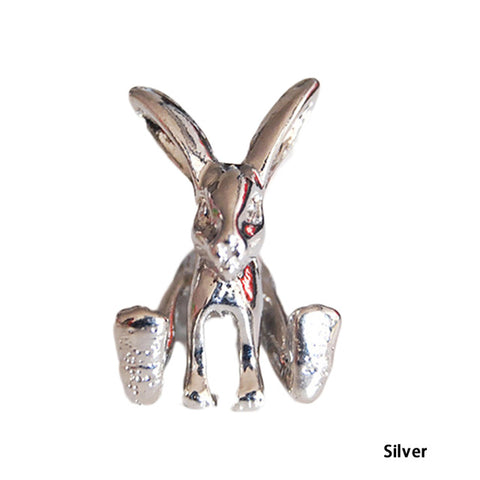 3D Bunny Rabbit Stud Earrings 1 PCS