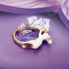 Image of Vintage White Rabbit Ring with Pearl Stud