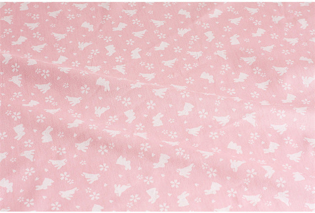 Bunny Themed Cotton Fabric – Three Variants