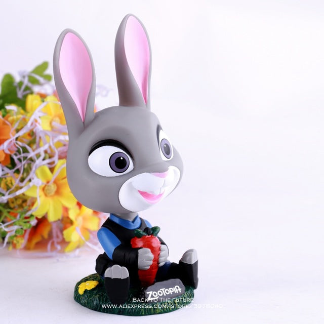 Zootopia-Themed Bobble Toy – Judy Hopps or Nick Wilde Action Figure