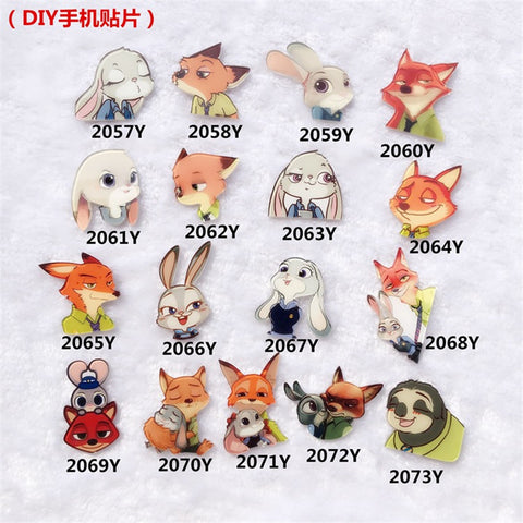 Zootopia Themed Pin Charms – 13 Designs
