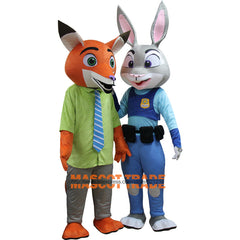 Zootopia Themed Mascot – Judy Hopps or Nick Wilde Costume