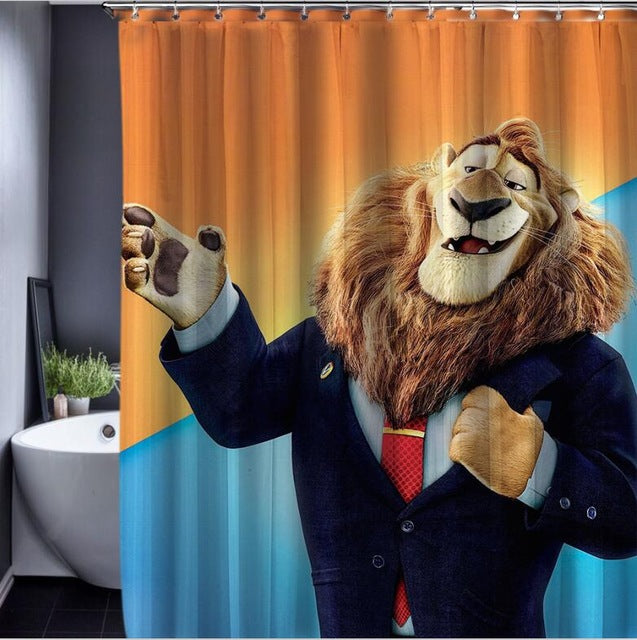 Zootopia Themed Shower Curtain – 4 Designs