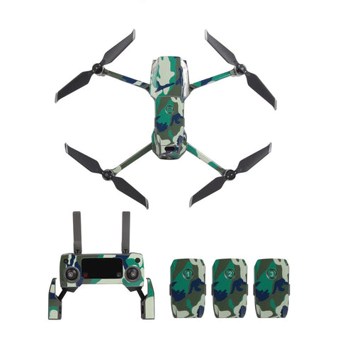 Decals Stickers for Mavic 2 Pro / Zoom Full Body, Transmitter and Battery - Design Collection 3 – Military Camouflage, Decal, [product_tags] - SGM Drones