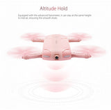 HD Foldable Pocket Selfie Drone with 720p Camera (Pink), Drone, [product_tags] - SGM Drones