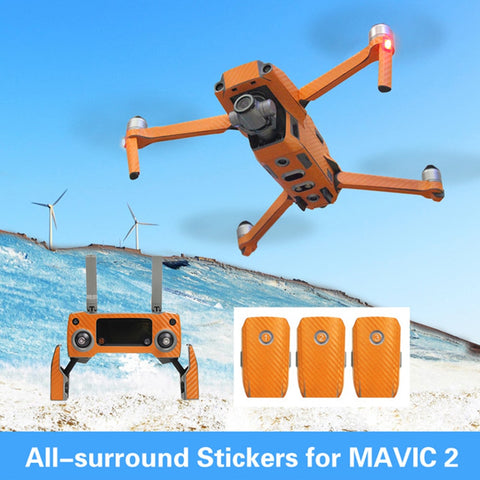 Decals Stickers for Mavic 2 Pro / Zoom Full Body, Transmitter and Battery - Design Collection 4 – Carbon Fibre Stripes, Decal, [product_tags] - SGM Drones