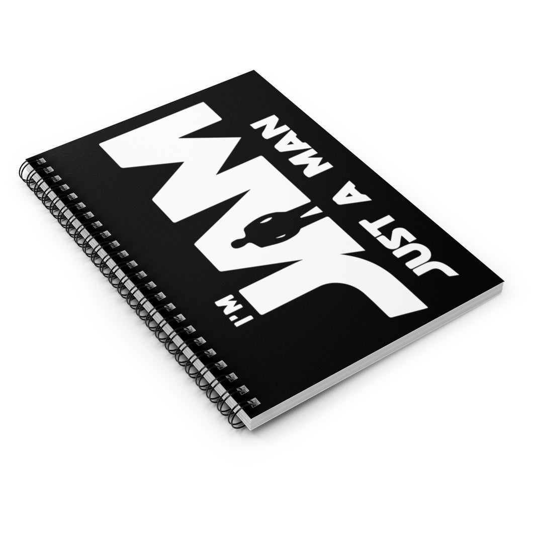 I'm JAM Spiral Notebook - Ruled Line (White Letters on Black Cover)