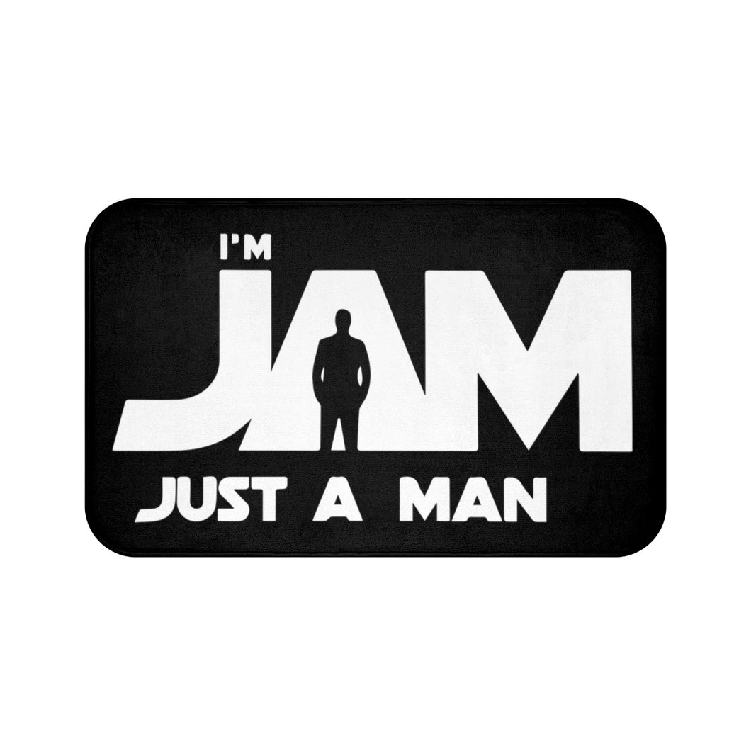 I'm JAM Bath Mat - White Letters on Black Mat