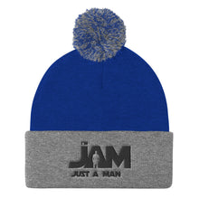 I'm JAM Pom Pom Top Knit Cap - Black Letter Edition