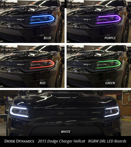 Diode Dynamics 2015-2018 Dodge Charger Multicolor DRL LED Boards