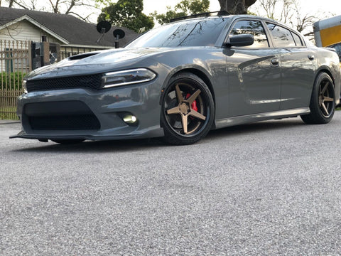 Chrome & Carbon Dodge Charger Front Splitter