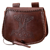 Brown Thor Leather Pouch (single stitch)