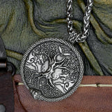 Wolf & Yggdrasil (Tree of Life) Pendant on Chain