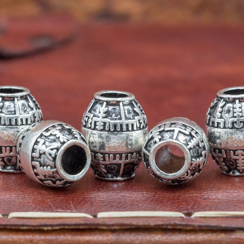 oval vegvisir hair and beard beads for vikings