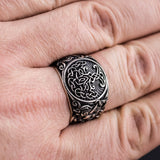 Sterling Silver Tree of Life Mammen Axe Ring