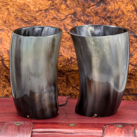 Pair of Small Horn Cups