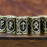 Bronze ELDER FUTHARK RUNE BEADS SET