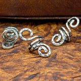 Hand-Hammered Curly Ended Hair Bead