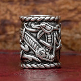 UK viking norse jelling style dragon hair and beard bead