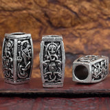UK viking norse odin wolf fenrir dragon large hair beard bead