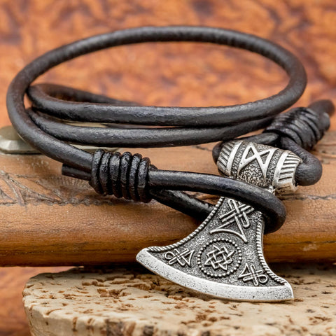 Axe Leather Hook Bracelet