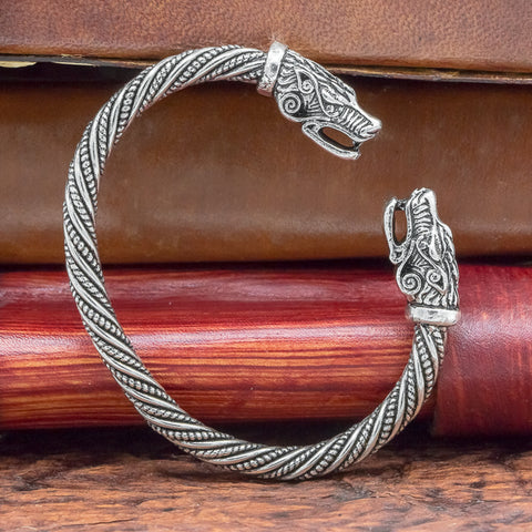 fenrir wolf small viking arm ring