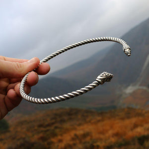 You added 925 Sterling Silver FLÓKI Neck Torc to your cart.