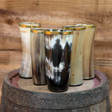 natural viking horn drinking cup hand crafted