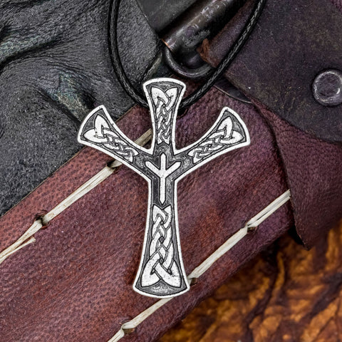 norse viking algiz protection rune pendant