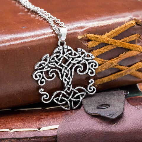 Yggdrasill tree of life nose viking celtic pendant necklace