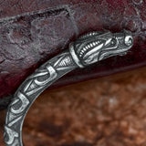 Scandinavian Sterling Silver Dragon Arm Ring