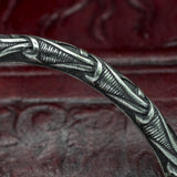 Scandinavian Silver Plated Bronze Dragon Arm Ring