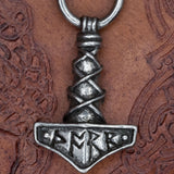 Pewter Thor's Hammer Mjölnir on chain