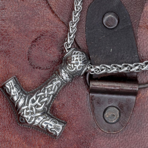 Stainless Steel Mjölnir on chain