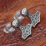 Pewter Thor's Hammer (Mjolnir) Earrings