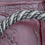 Large Asgard Pewter Raven Head Arm Ring Twisted Band