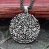 Wolf & Yggdrasil (Tree of Life) Pendant on Chord